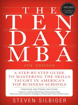Click this cover for a(n) eBook sample of The Ten-Day MBA 4th Ed..