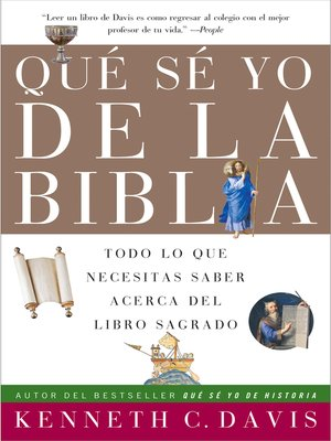 Click this cover for a(n) eBook sample of Que Se Yo de la Biblia.