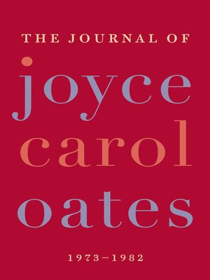 Cover of The Journal of Joyce Carol Oates