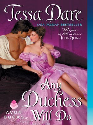 Click this cover for a(n) eBook sample of Any Duchess Will Do.
