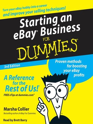 Click this cover for a(n) Audiobook sample of Starting an E-Bay Business for Dummies.