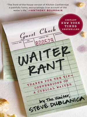 Click this cover for a(n) eBook sample of Waiter Rant.