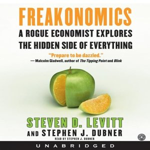 Click this cover for a(n) Audiobook sample of Freakonomics.