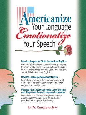 Click this cover for a(n) eBook sample of Americanize Your Language and Emotionalize Your Speech!