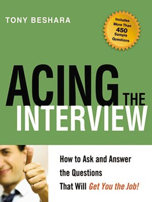 Click this cover for a(n) eBook sample of Acing the Interview