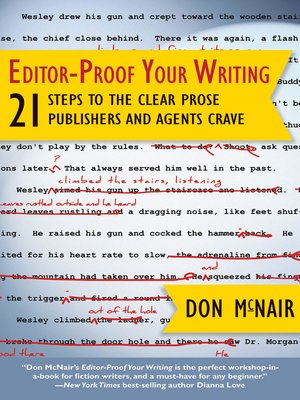 Click this cover for a(n) eBook sample of Editor-Proof Your Writing