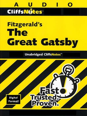 Click this cover for a(n) Audiobook sample of Fitzgerald's The Great Gatsby.