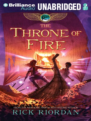 Click this cover for a(n) Audiobook sample of The Throne of Fire.