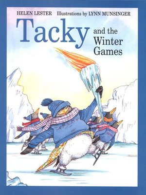Click this cover for a(n) eBook sample of Tacky and the Winter Games.