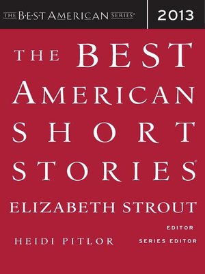 Cover of The Best American Short Stories 2013