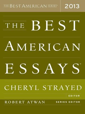 Click this cover for a(n) eBook sample of The Best American Essays 2013.