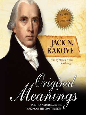Click this cover for a(n) Audiobook sample of Original Meanings.
