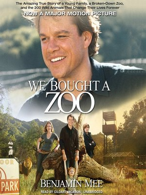 Click this cover for a(n) Audiobook sample of We Bought a Zoo.