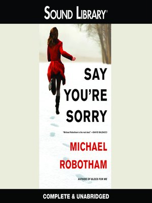 Cover of Say You're Sorry