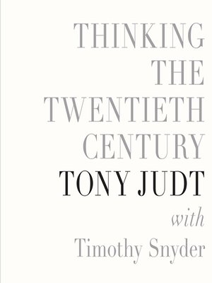 Click this cover for a(n) Audiobook sample of Thinking the Twentieth Century