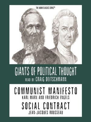 Cover of Communist Manifesto and Social Contract