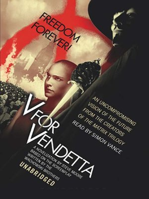 Click this cover for a(n) Audiobook sample of V for Vendetta.
