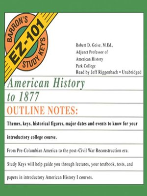 Click this cover for a(n) Audiobook sample of American History to 1877.