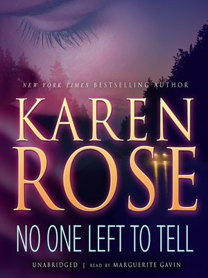 Click this cover for a(n) Audiobook sample of No One Left to Tell.