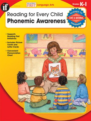 Click this cover for a(n) eBook sample of Phonemic Awareness, Grades K - 1