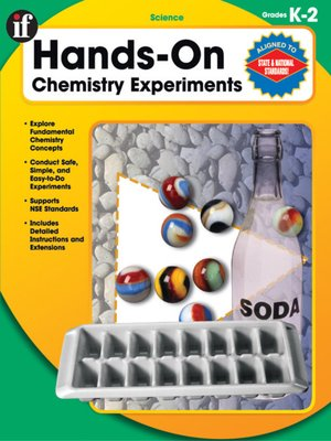 Click this cover for a(n) eBook sample of Hands-On Chemistry Experiments, Gr. K - 2.