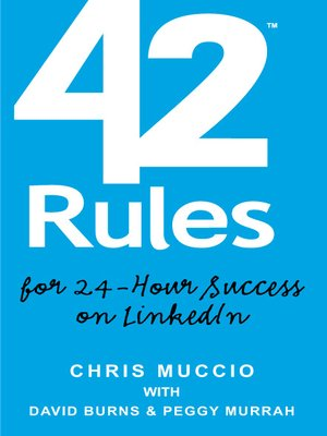 Click this cover for a(n) eBook sample of 42 Rules for 24-Hour Success on LinkedIn .