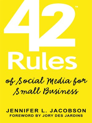 Click this cover for a(n) eBook sample of 42 Rules of Social Media for Small Business.