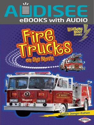 Click this cover for a(n) eBook sample of Fire Trucks on the Move