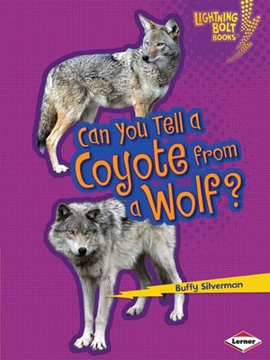 Click this cover for a(n) eBook sample of Can You Tell a Coyote from a Wolf?