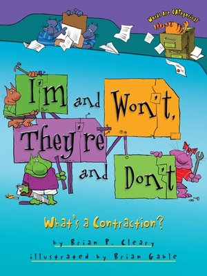 Cover of I'm and Won't, They're and Don't