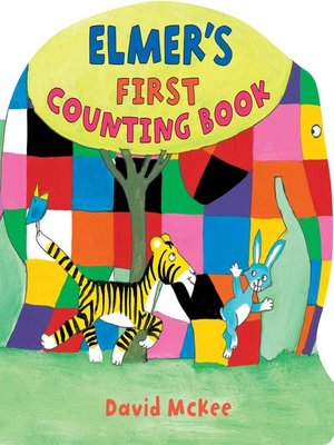 Click this cover for a(n) eBook sample of Elmer's First Counting Book.
