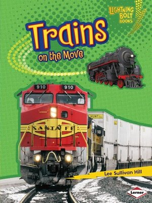 Click this cover for a(n) eBook sample of Trains on the Move