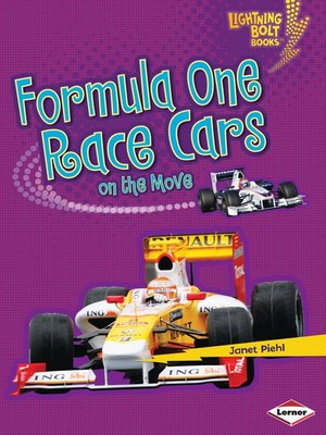 Click this cover for a(n) eBook sample of Formula One Race Cars on the Move.