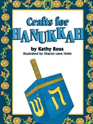 Click this cover for a(n) eBook sample of Crafts for Hanukkah