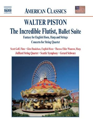 Cover of PISTON: The Incredible Flutist / Fantasy for English Horn, Harph and Strings
