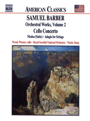 Click this cover for a(n) Music sample of BARBER: Cello Concerto / Medea Suite / Adagio for Strings.