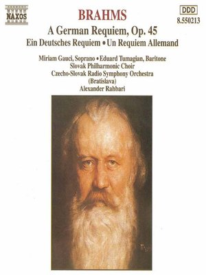 BRAHMS: German Requiem (A), Op 45