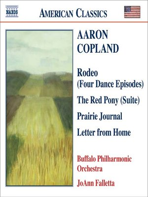 Click this cover for a(n) Music sample of COPLAND: Prairie Journal / the Red Pony Suite / Letter from Home.