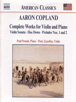 Cover of COPLAND: Works for Violin and Piano (Complete)