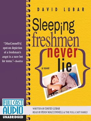 Click this cover for a(n) Audiobook sample of Sleeping Freshmen Never Lie