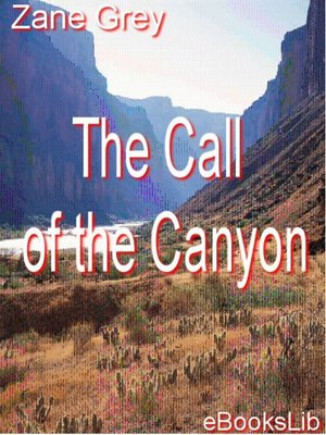 Click this cover for a(n) eBook sample of The Call of the Canyon.