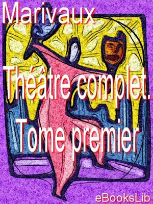 Cover of Théâtre complet. Tome premier