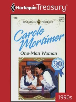 Click this cover for a(n) eBook sample of One-Man Woman.