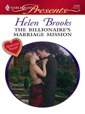 Click this cover for a(n) eBook sample of The Billionaire's Marriage Mission.