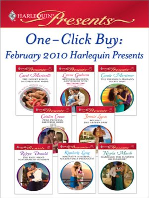 Click this cover for a(n) eBook sample of One-Click Buy: February 2010 Harlequin Presents.