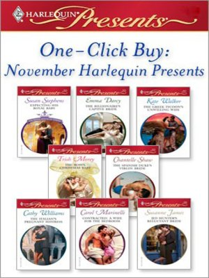 Cover of One-Click Buy: November Harlequin Presents: Expecting His Royal Baby\The Billionaire's Captive Bride\The Greek Tycoon's Unwilling Wife\The Boss's Christmas Baby\The Spanish Duke's Virgin Bride\The Italian's Pregnant Mistress