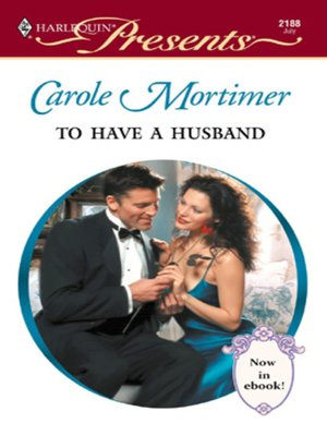 Click this cover for a(n) eBook sample of To Have a Husband