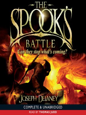 Click this cover for a(n) Audiobook sample of The Spook's Battle