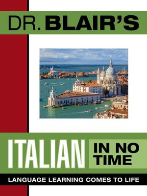 Click this cover for a(n) Audiobook sample of Dr. Blair's Italian In No Time