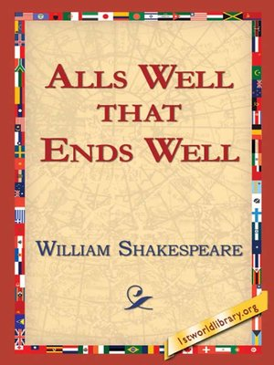 Cover of Alls Well That Ends Well